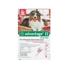 Advantage Flea Control for Dogs and Puppies 21-55 lbs 4 Month Supply - RED-55-4