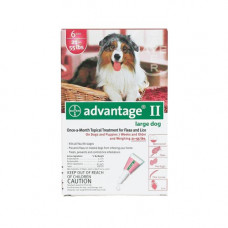 Advantage Flea Control for Dogs and Puppies 21-55 lbs 6 Month Supply - RED-55-6