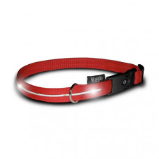 Visiglo Red Nylon Collar with White LED Small – V308