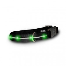 Visiglo Black Nylon Collar with Jade Green LED Small – V455