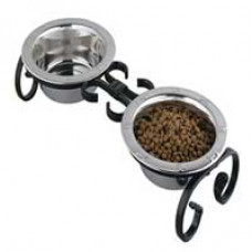 Small Classic Wrought Iron Pet Feeder