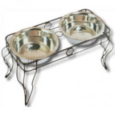 Wrought Iron Dog Dining Station by Pet Goods
