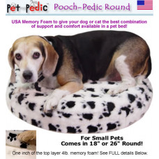 Pooch Pedic Round Dog Bed