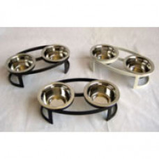 Oval Double Pet Diners for Small Pets
