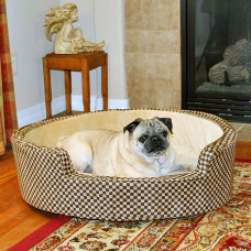 K&H Pet Products Round Comfy Sleeper Self-Warming Tan / Brown
