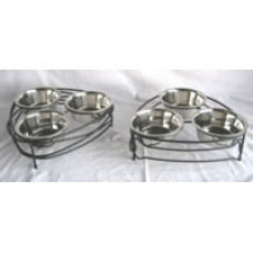 Raised Triple Bowl Pet Diner