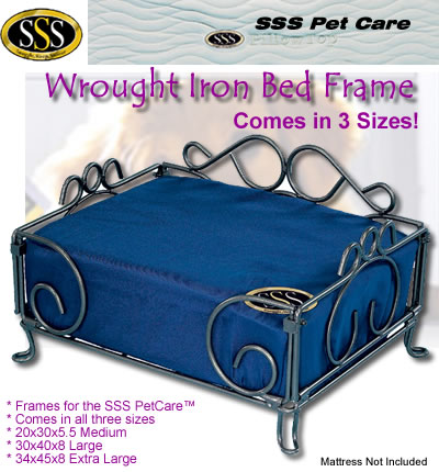 Wrought Iron Beds  Wood on Wrought Iron Dog Bed   Dog Beds For Small Dogs